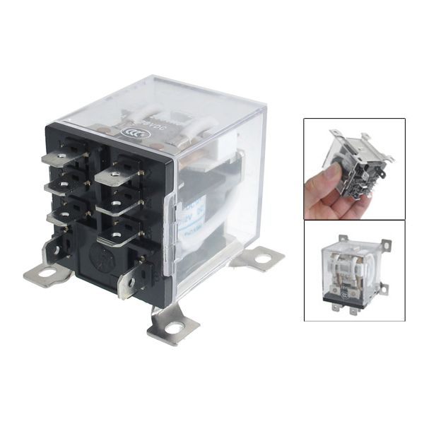 JQX-12F 2Z DC 12V 30A DPDT General Purpose Power Relay 8 Pin