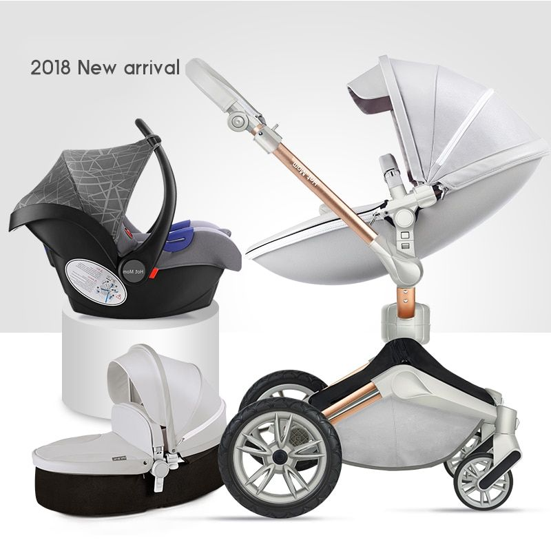 2018 new hot mum 360 degree rotate baby strollers 2 in 1 baby stroller 3 in 1 baby carriage folding newborn stroller