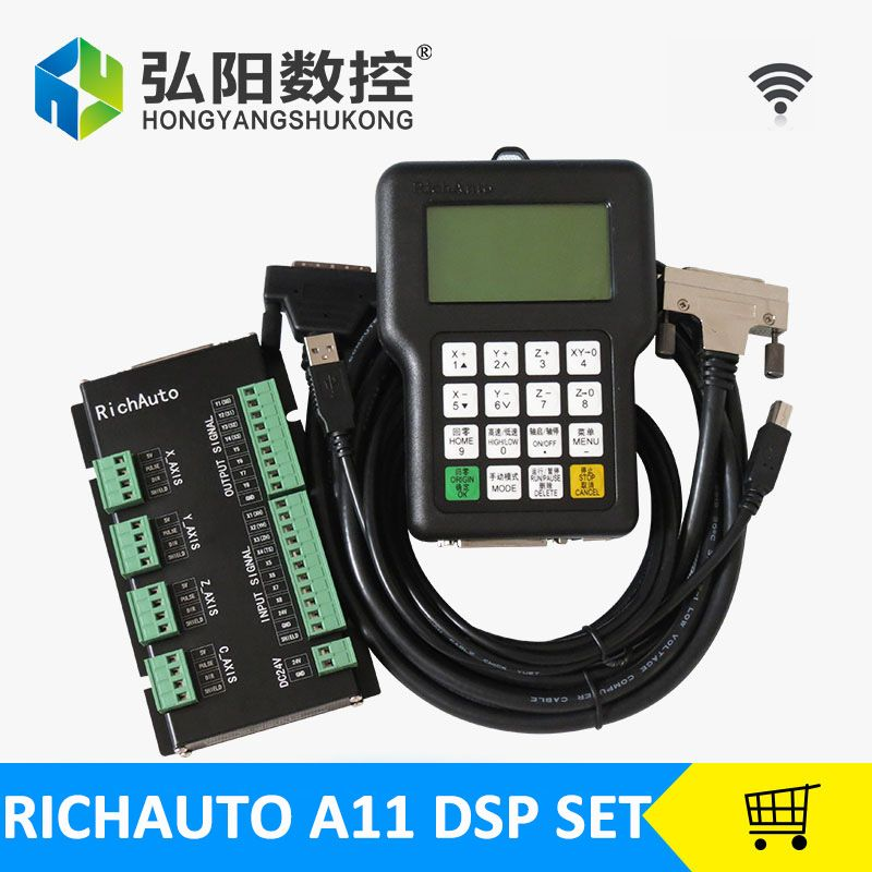 RichAuto A11 DSP steuerung für cnc router steuerung dsp a11s/a11e bord datenleitung