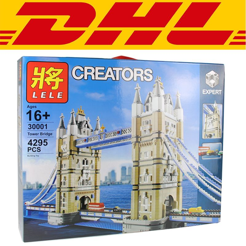 2018 New LELE 30001 4295Pcs City The Tower Bridge Model Building Kits Blocks Bricks Toy For Children Compatible With 10214