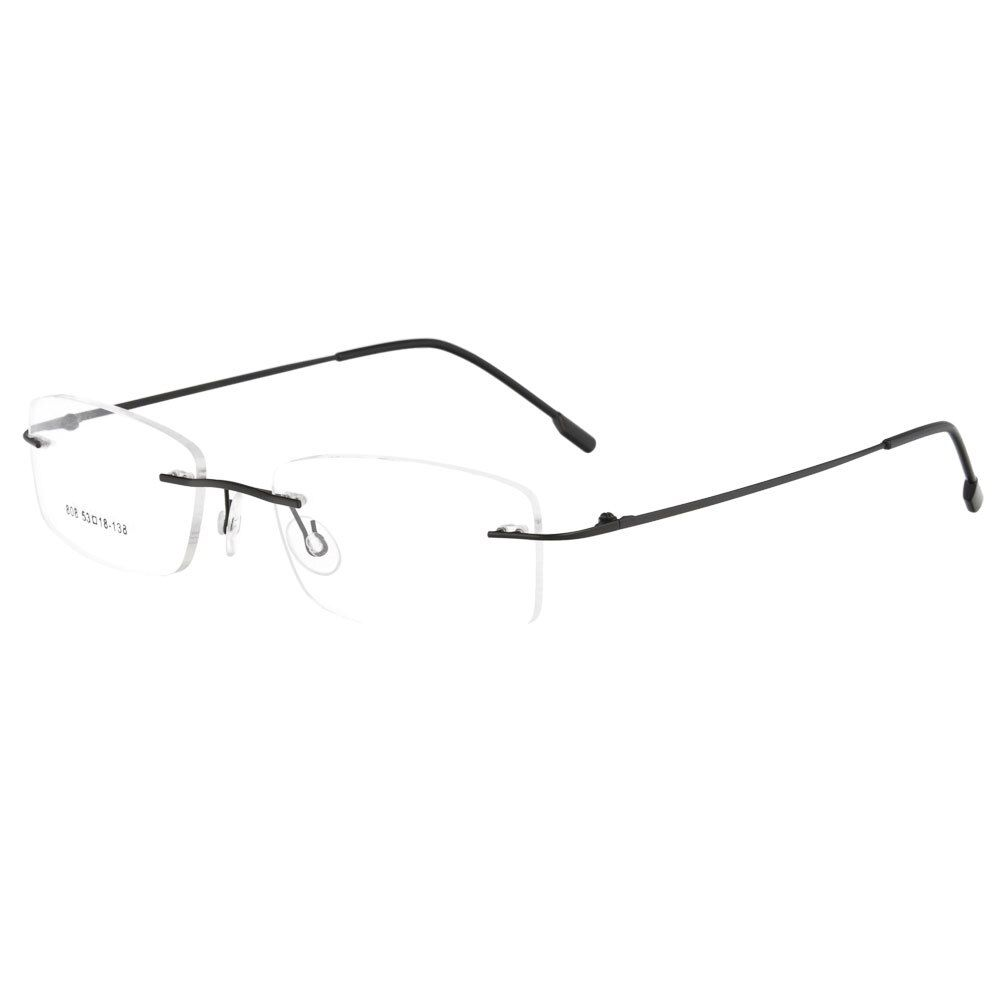 MY DOLI unisex rimless hinged memory metal eyewear optical frames 1 lot 50PCS factory price wholesale 808