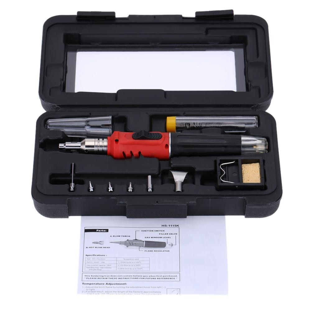WSFS Hot Sale HS-1115K Professional Butane Gas Soldering Iron Kit Welding Kit Torch