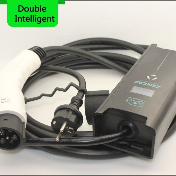 6 8 10 12 16A EVSE input Schuko plug temperature SENSOR SAE J1772 Type 1 5M cable for Electric Car EV Charging adjustable stock