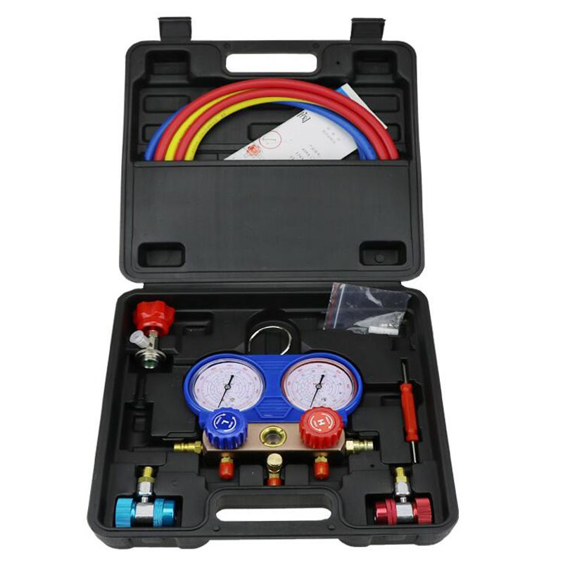 R134a car air conditioning and fluoride table snow pressure gauge refrigerant dual - valve air - conditioning maintenance tools