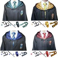 Adult Kids Harri Robe With Tie Scarf Gryffindor Slytherin Ravenclaw Hufflepuff Potter Cosplay Costume Robe Cloak Children Gift