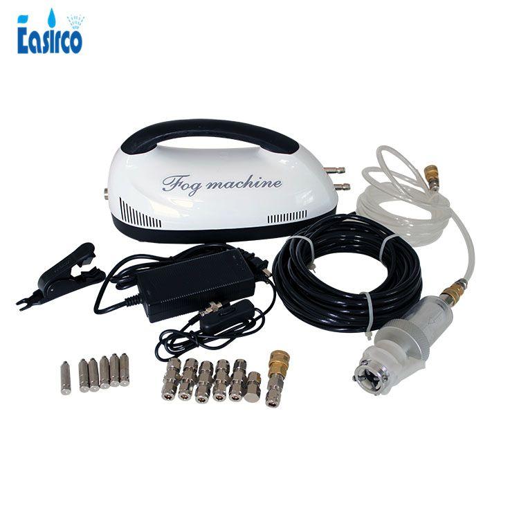 6pcs nozzles Mist cooling system 0.2L/MIN +60bar pump with (OD)6.35mm Nylon tube(10M)