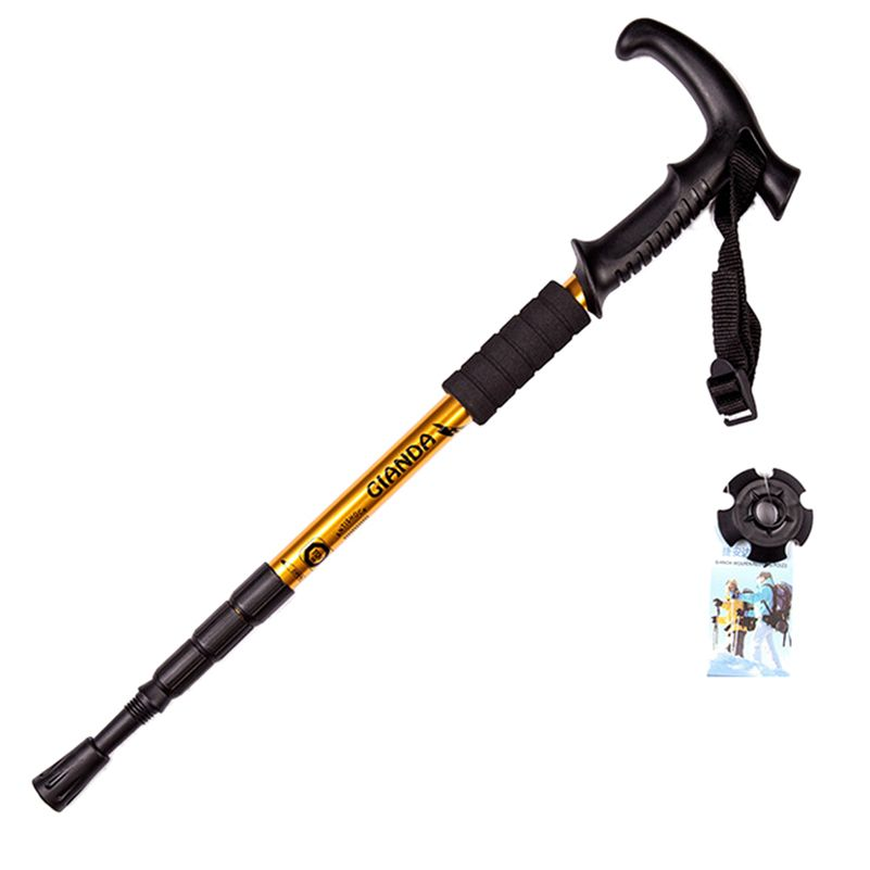 1 stücke Gehen und Wanderstock Trekking Trail Pole Ultraleicht Wandern Protector schnitt Verstellbare Stöcke Länge 110 cm