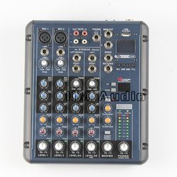 RMV6/2 2 Mono + 2 stereo 6 Channels 3 Band EQ 1AUX 1 Return 16 DSP Effect USB Professional DJ Audio Mixer Console