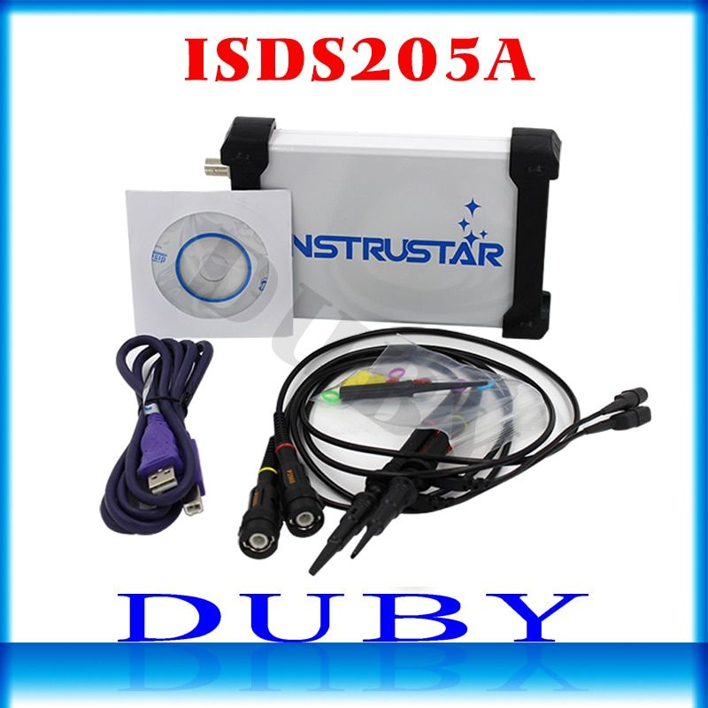 MDSO ISDS205A New upgrade 3 IN 1 Multifunctional 20M PC USB virtual Digital oscilloscop+spectrum analyzer+data recorder