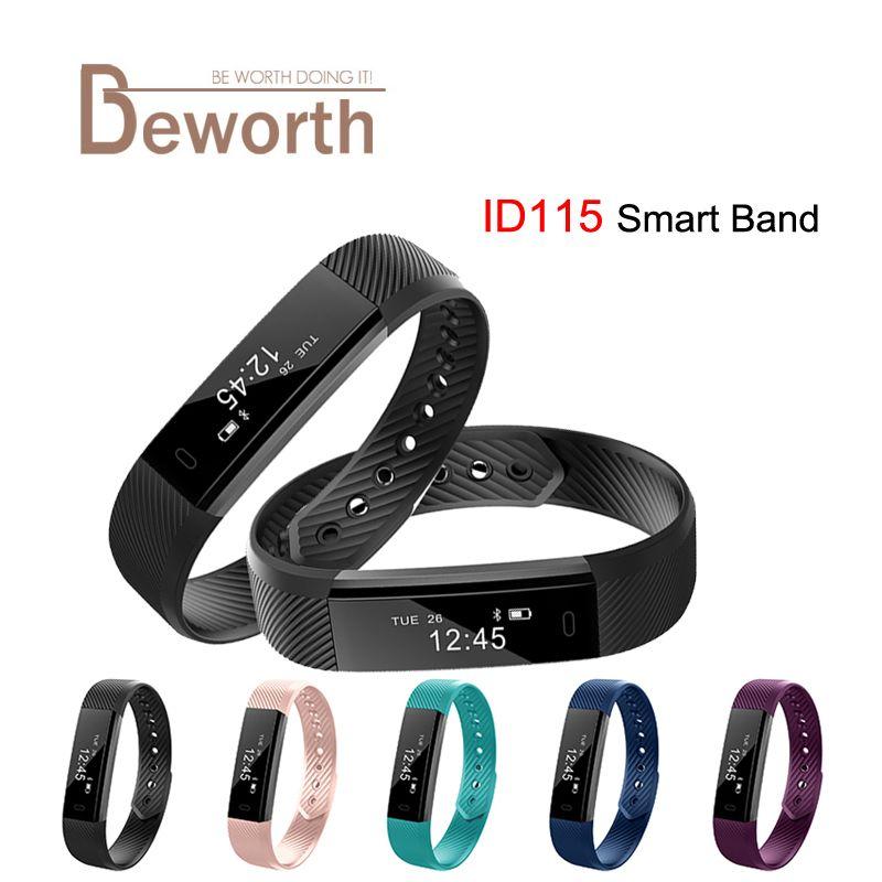 Smartband ID115 Smart Armband Fitness Tracker Schrittzähler Aktivität Monitor Band Vibration Armband pk FitBits Mi Band 2 ID107