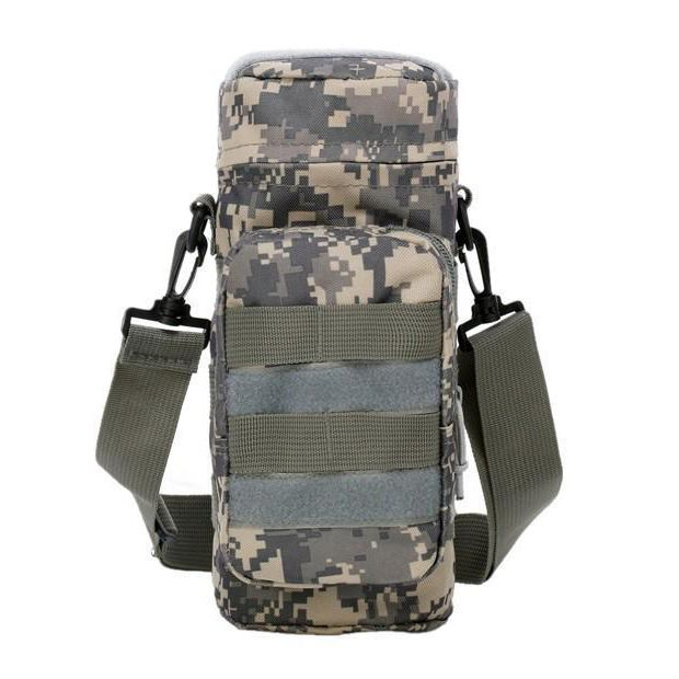 Hot Outdoor Militray  MolleZipper Water Bottle Pouch Bag Carrier Hiking Color:ACU Camouflage