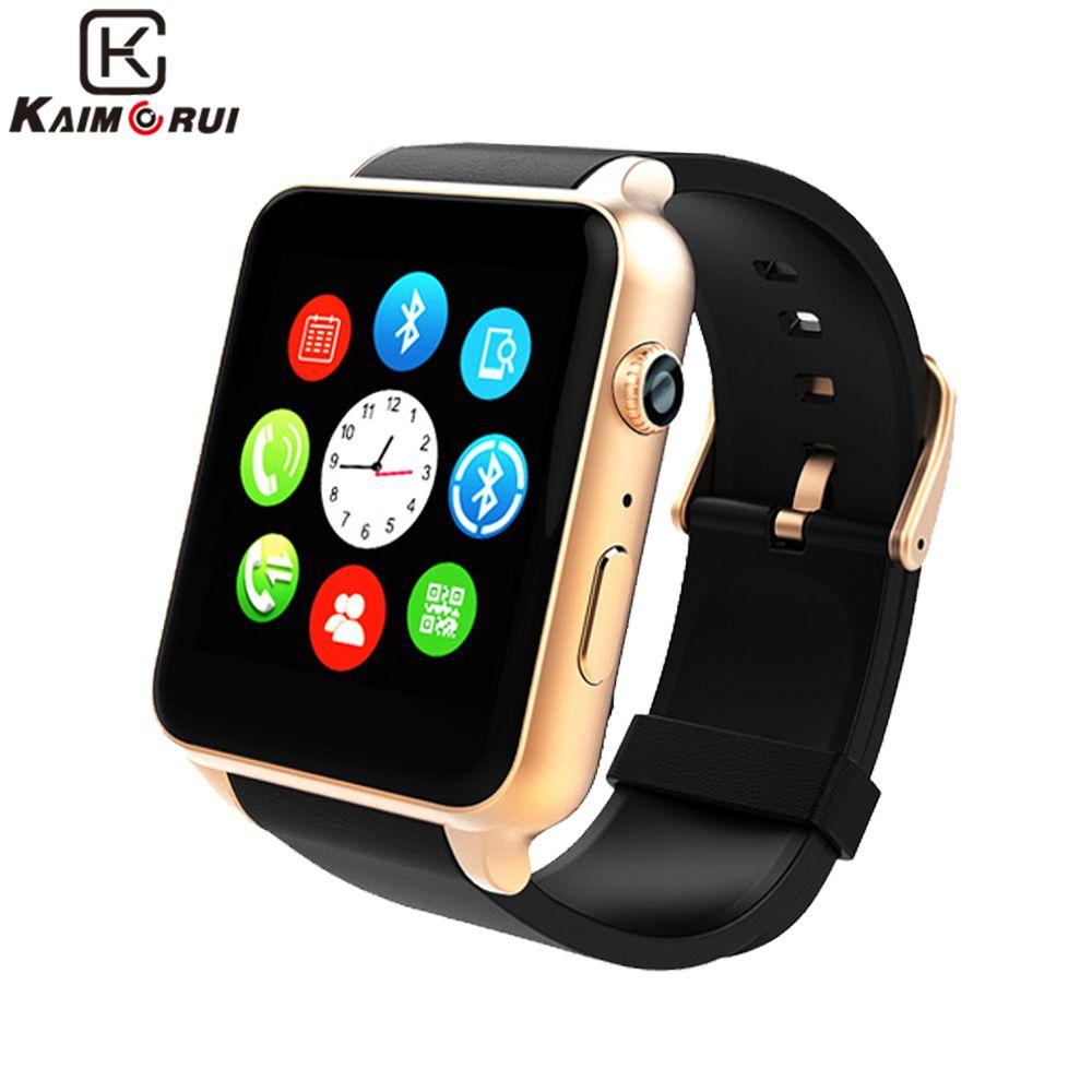 Kaimorui Bluetooth Intelligent Montre de Fréquence Cardiaque Sommeil Monitor Support TF/Carte SIM Smartwatch pour iPhone et Android Smart Montres