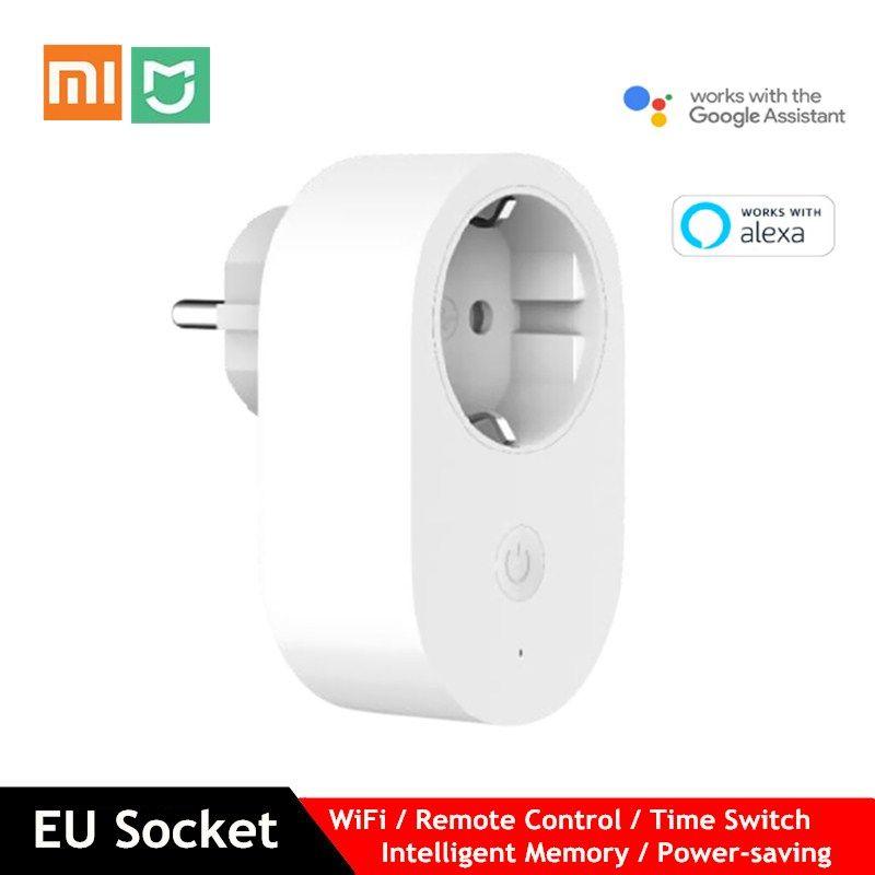 Xiaomi Mijia EU Smart Socket WiFi Remote Control Time Switch Intelligent Memory Power-saving Works with Google assistant Alexa
