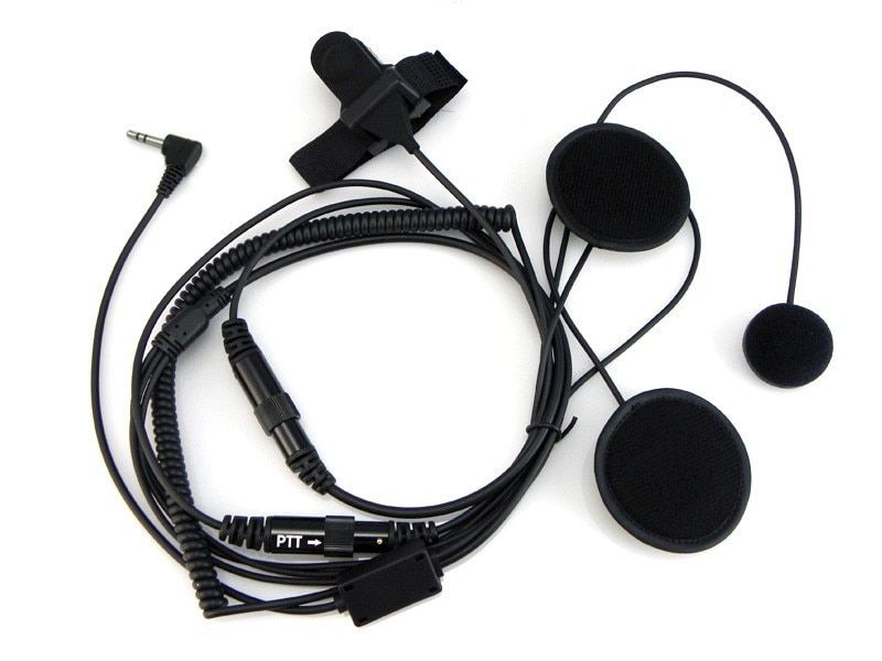 Motorcycle Helment Headphone 1 Pin Headset PTT for Motorola Walkie talkie TLKR T60 T3 T80 screen radio for MB140R MT350 R MS355