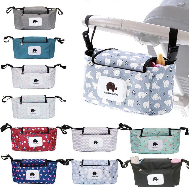 Bébé poussette organisateur sac momie sac à couches crochet bébé chariot étanche grande capacité poussette accessoires voyage Nappy