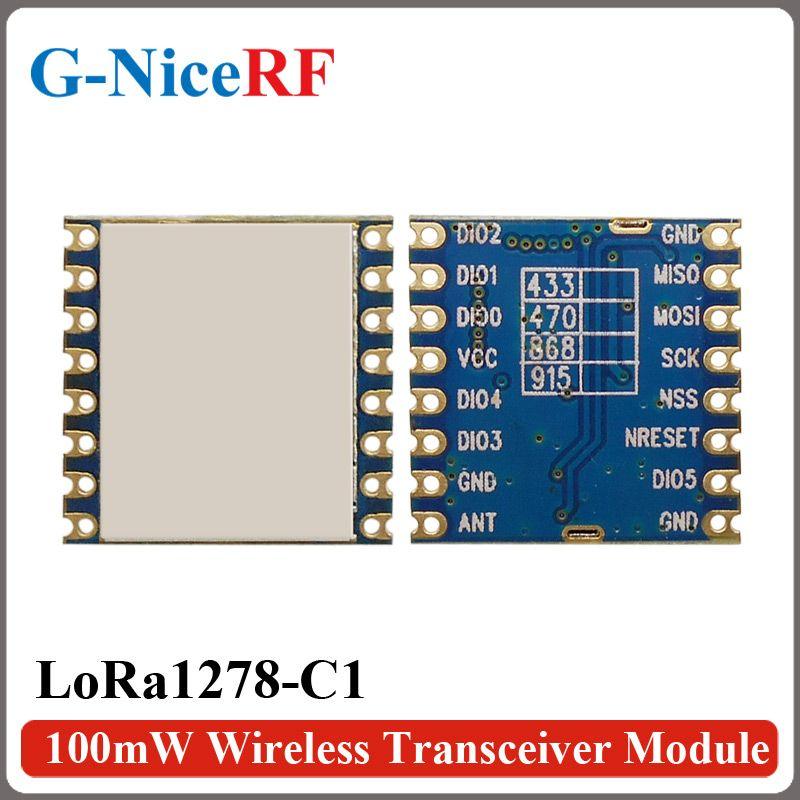 2 PCS/Lot LoRa1278-C1 100 mW 4 KM Longue Portée SX1278 LoRa Puce LoRa 433 MHz TX/RX Sans Fil Module