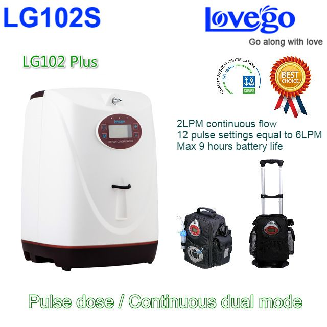 8 hours Battery life Lovego Newest Portable Oxygen Concentrator LG102S