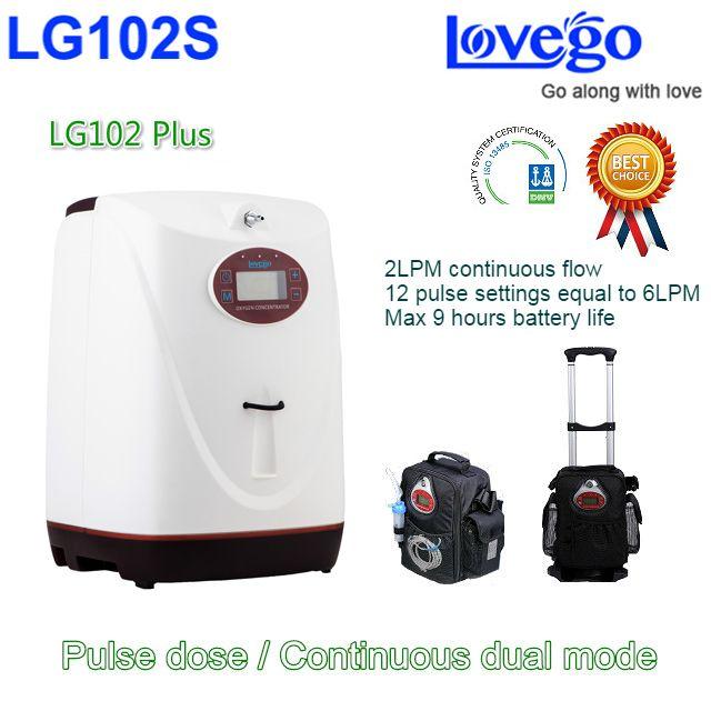 8 stunden akkulaufzeit Lovego Neueste Tragbare Sauerstoffkonzentrator LG102S