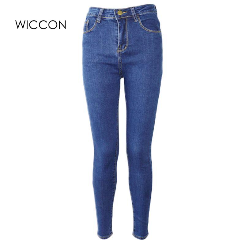 Jean Slim pour femme Skinny taille haute Jeans femme bleu Denim crayon pantalon Stretch taille femmes Jeans noir pantalon Calca Feminina