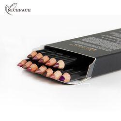 12 couleurs Beauté Professionnel Lipliner Crayon Étanche Longue durée Contour Crayon À Lèvres Stylo Doux Rouge Nude Maquillage