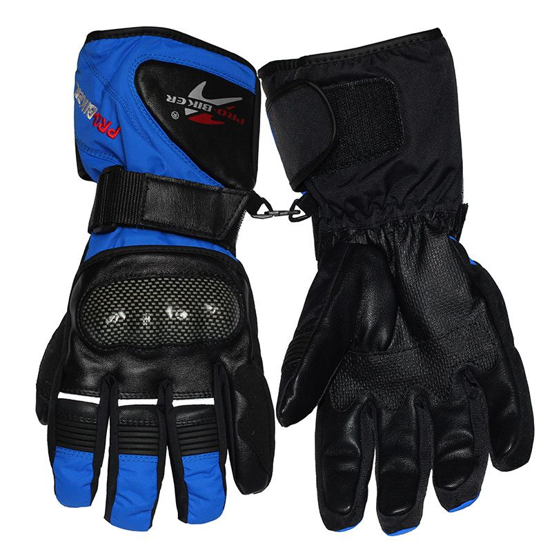 PRO-BIKER Winter Motorrad handschuhe Carbon Luva Motoqueiro Guantes Moto Luvas de moto Skifahren Motocross handschuhe HX0500 Gants Moto