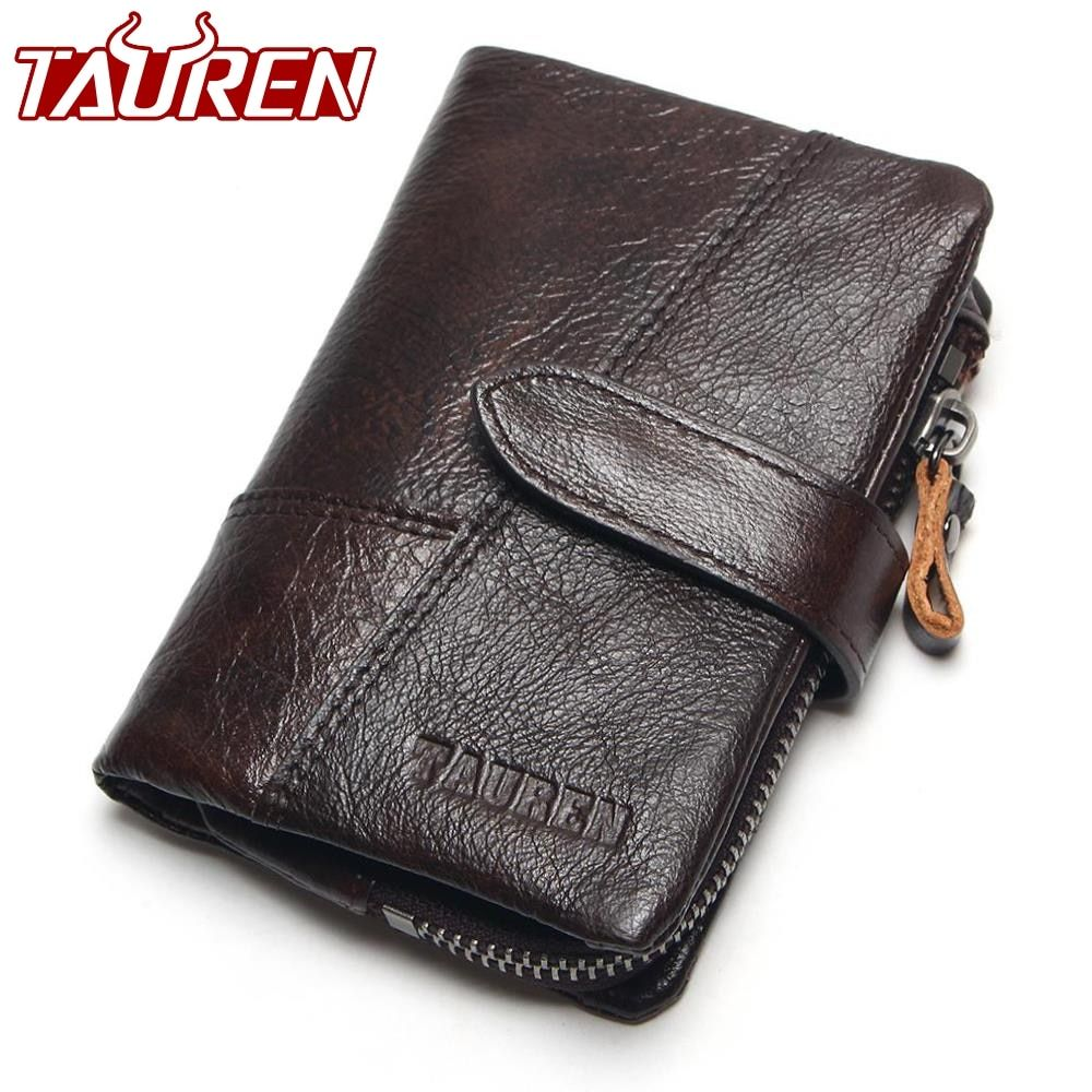TAUREN OIL WAX Cowhide Genuine Leather Men Wallets Fashion Purse With Card Holder Vintage Long Wallet Clutch Wrist <font><b>Bag</b></font>