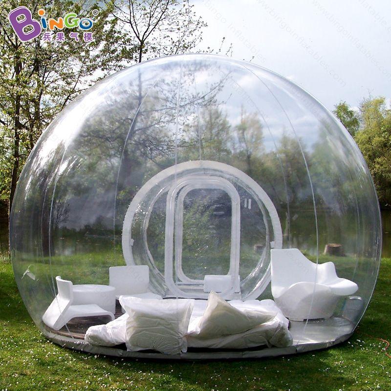 Freies verschiffen Aufblasbare transparent bubble zelt mit tunnel für camping hochwertige outdoor tarvel leicht klare kuppelzelt