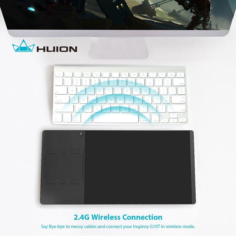 HUION inspiroy g10t Новый цифровой Планшеты Беспроводной графический Рисунок Стилусы для планшетов и пальцем Планшеты с рисунком перчатки подарок