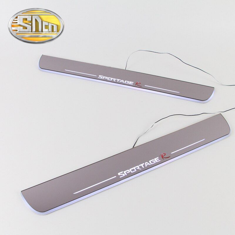 SNCN Waterproof Acrylic Moving LED Welcome Pedal Car Scuff Plate Pedal Door Sill Pathway Light For Kia Sportage 2010 - 2016