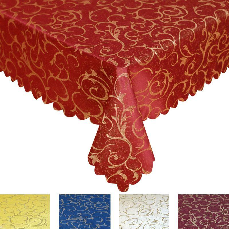 Toutes les nappes de nappe Jacquard de défilement de taille élégantes décorations d'hôtel de noce
