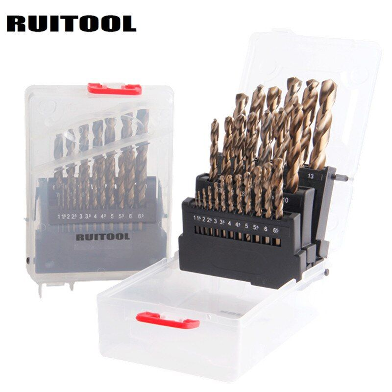 RUITOOL 1-10mm/1-13mm Bohrer Set Original M35 Kobalt Metall Cutter Für Edelstahl stahl Holz Bohren Power Tools