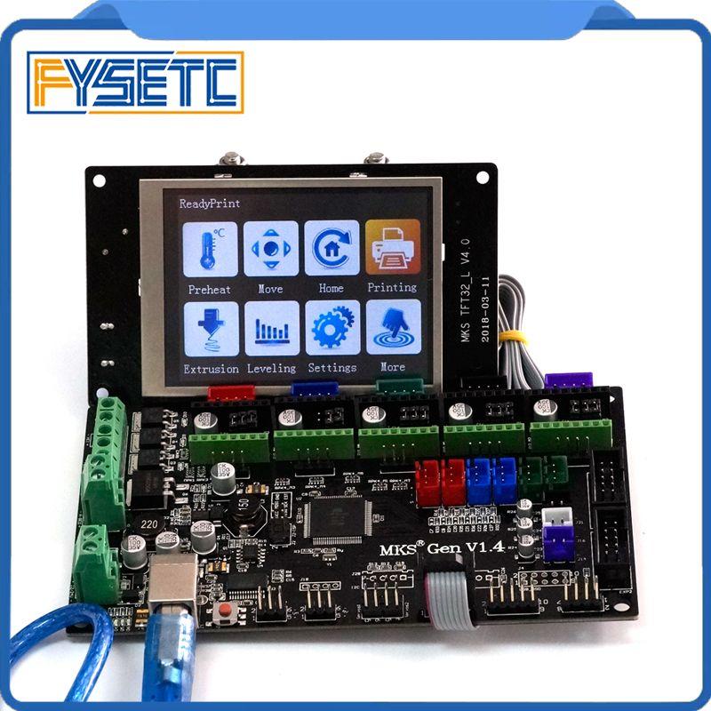 3D printer MKS Gen V1.4 Control Board Mega 2560 R3 Motherboard RepRap Ramps1.4 With TFT32 V4.0 LCD Screen Display