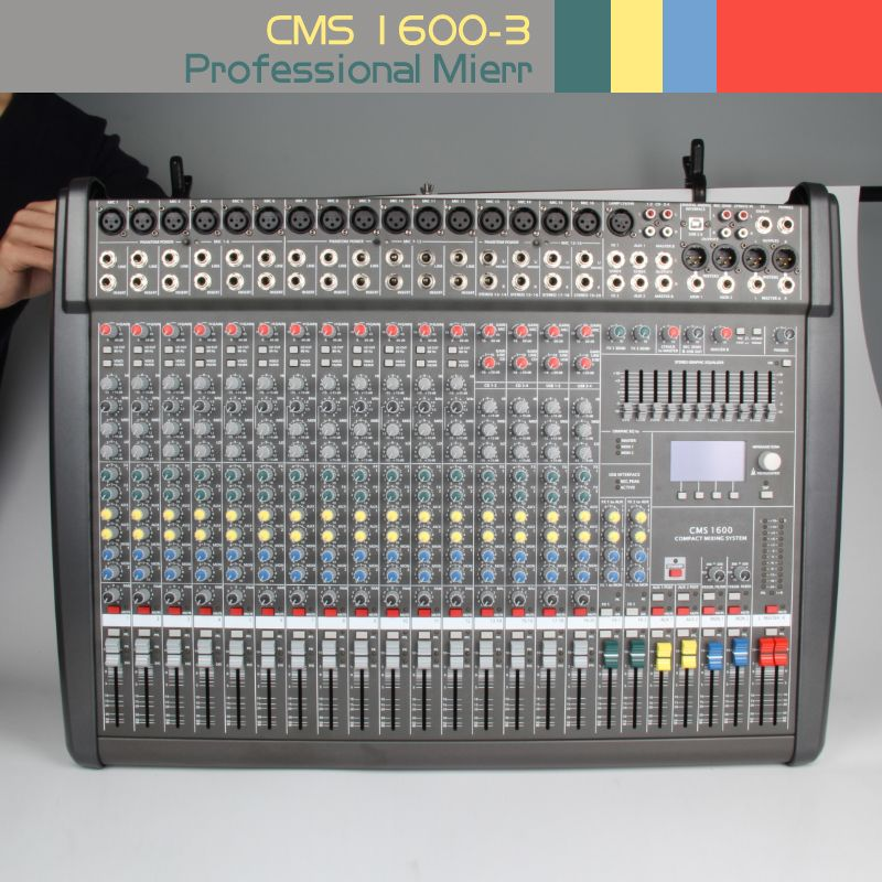 CMS1600-3 Professional Audio Mixer konsole Bühne Party Band spielen Sound studio Audio verarbeitung