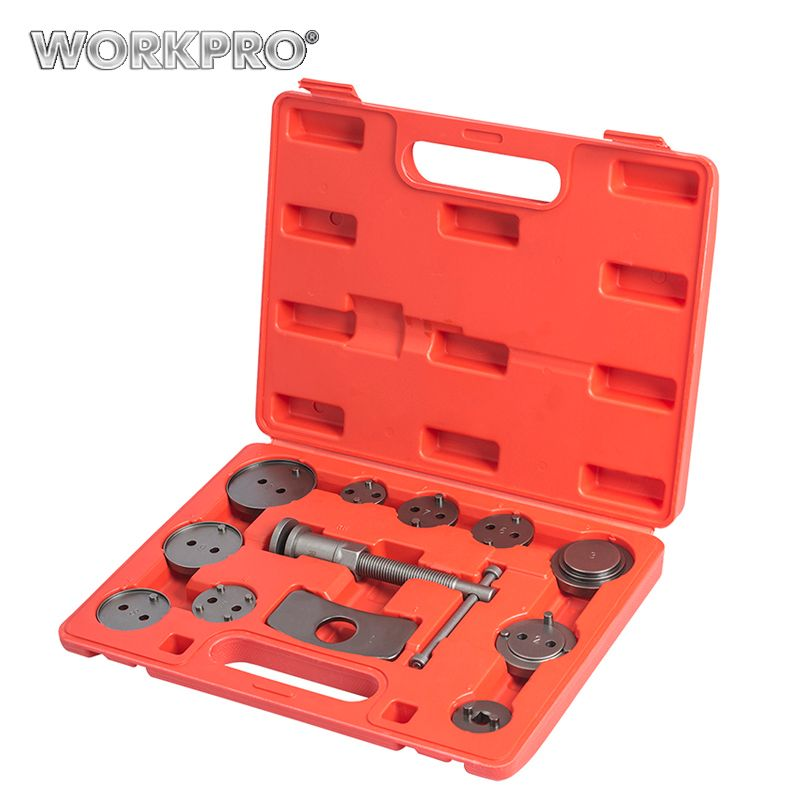 WORKPRO 12PC Car Repair Tools Car Tool Set Universal Auto Disc Brake Caliper Wind Back Brake Piston Compressor