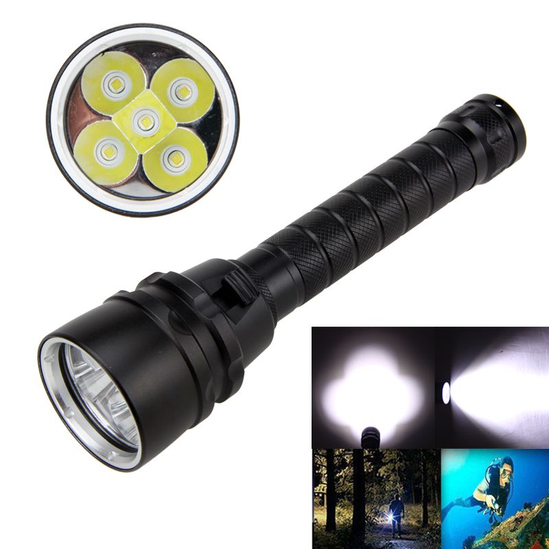 <font><b>Underwater</b></font> 100m Diving Flashlight Waterproof 5000Lm XM-L T6 LED Light Scuba Diving Lamp Torch 18650 Battery