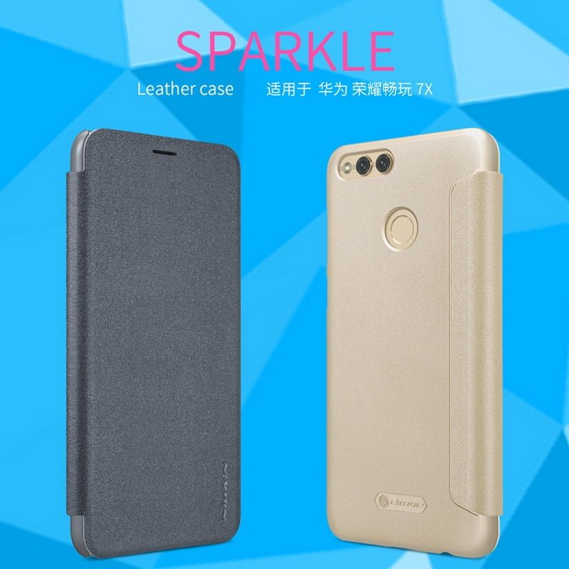 For Huawei Honor 7X Leather Case NILLKIN Fashion Business Back Cover Flip protective Phone Shell Mobile Phone Cases 5.93inch