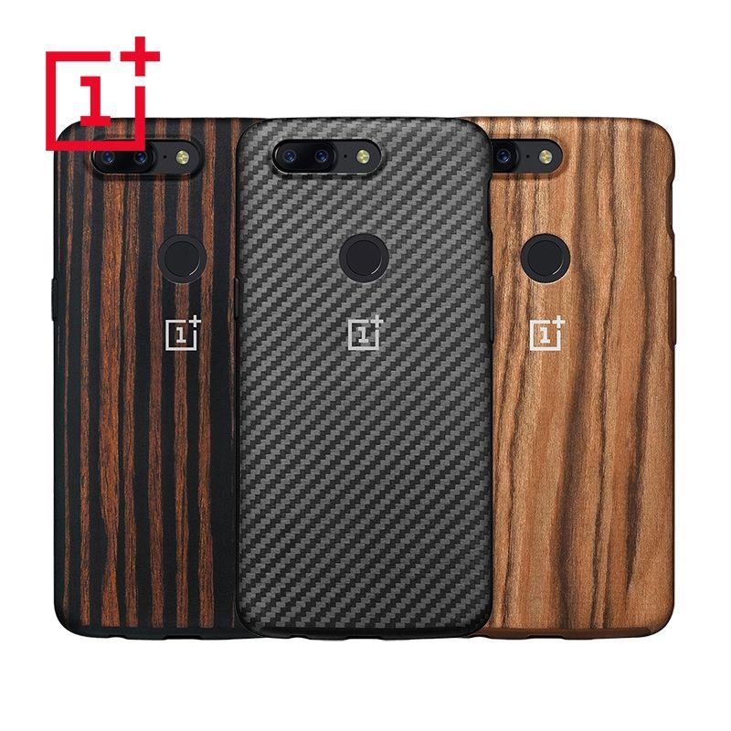 D'origine OnePlus 5 T Pare-chocs Boîtier Kevlar + TPU Protection Tous azimuts 100% Officiel de Couverture Arrière