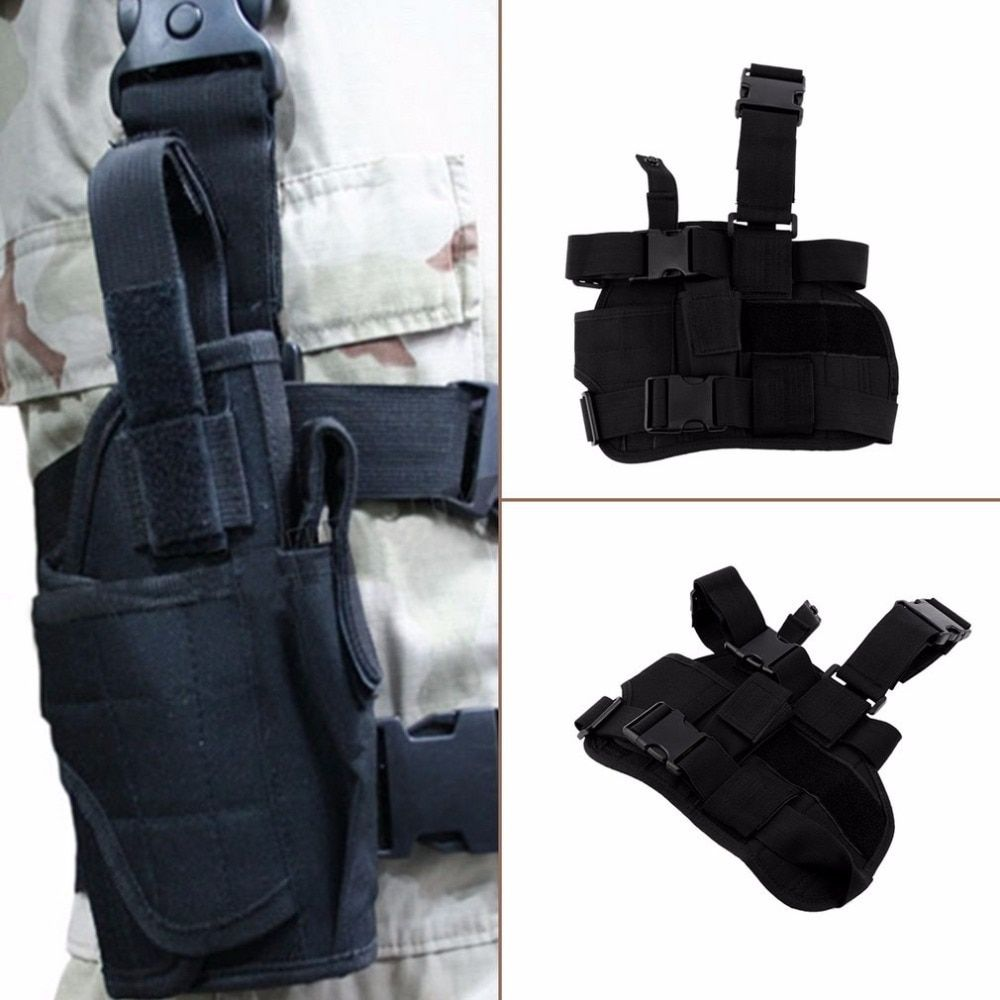 Clásico ajustable práctico puttee bolsa muslo pierna para al aire libre de la Bolsa de la pistolera Caza airsoft Militar táctico envío gratis
