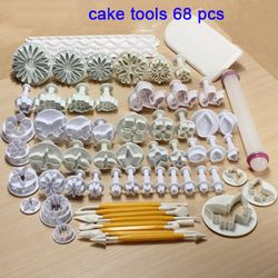 High Quality 68pcs/set turn sugar cake mold suit baking tools wholesale flower sugar cookie mould support wholesale