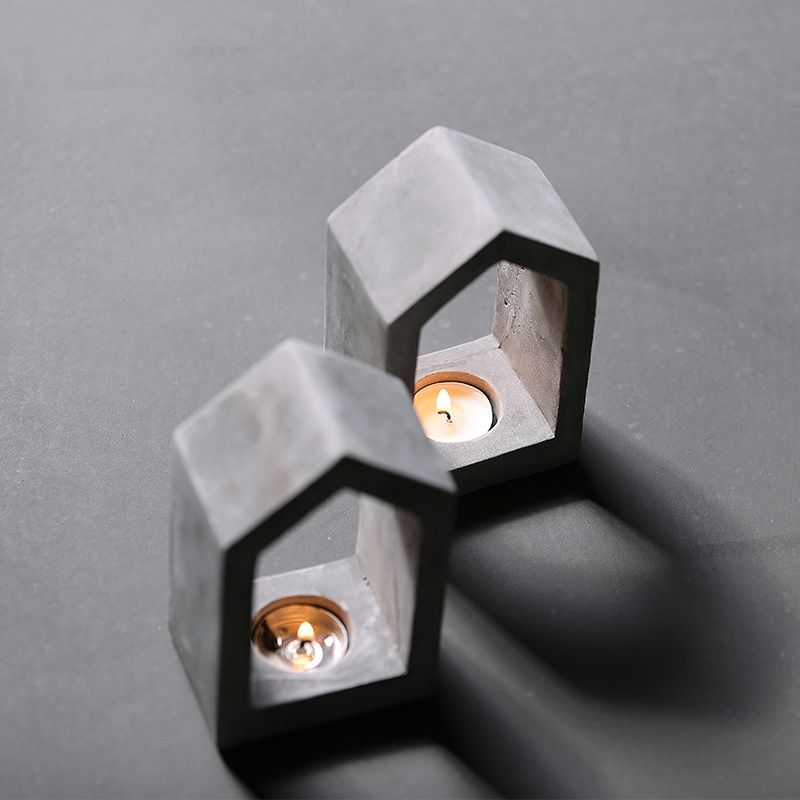 Cement house building decoration house decoration Home Furnishing candlestick silicone mold
