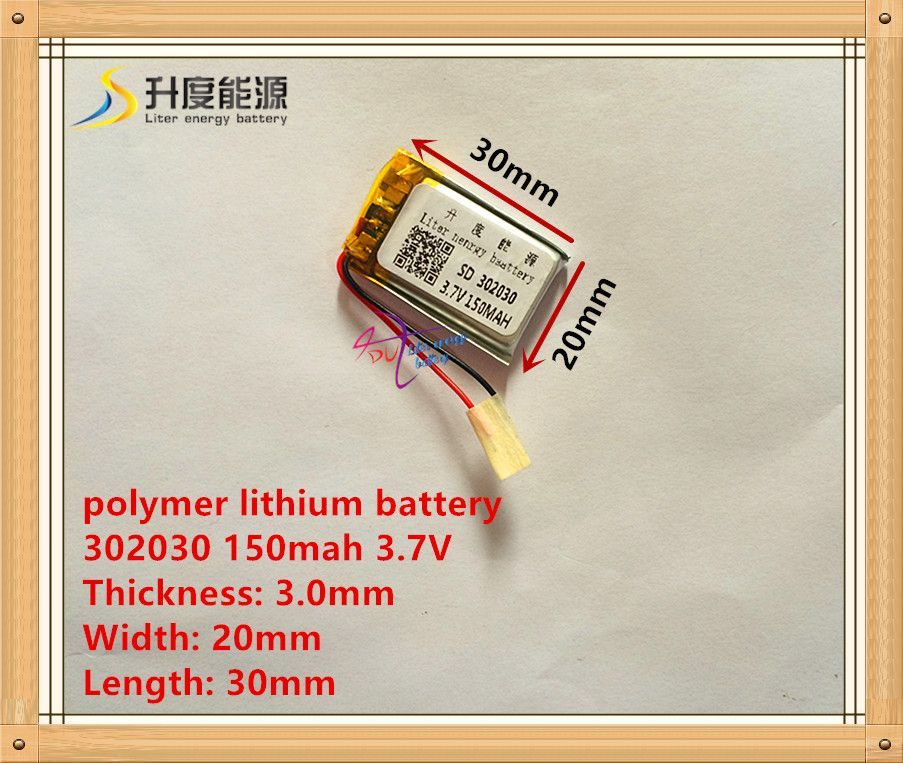 3.7 В литиевая батарея 302030 032030 150 мАч MP3 MP4 GPS bluetooth батарея игрушки