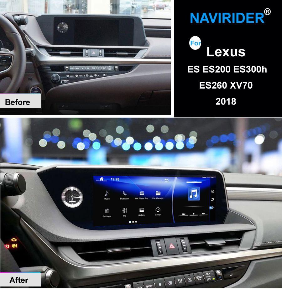 NAVIRIDER Android 7.1 Auto multimedia GPS Audio Radio Stereo Für Lexus es ES200 ES300h ES260 XV70 2018 Original Stil Navigation