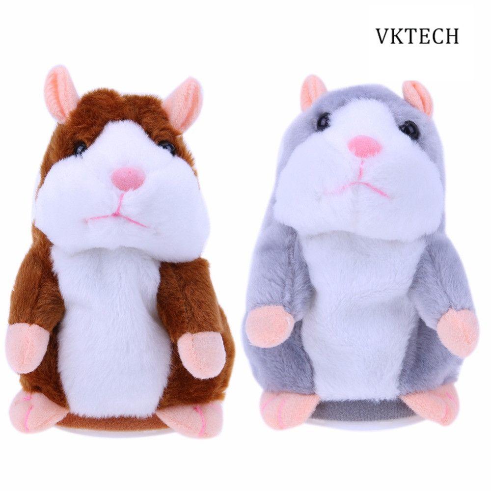 Talking hamster lindo bebé Mascotas electrónicas Juguetes felpa Muñecas Sound record hamster hablando juguete regalo dropshipping