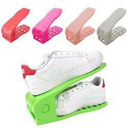 1 X zapato almacenamiento soporte estante Zapatero organizador de ahorro de espacio plástico conveniente Shoebox zapatos organizador gota