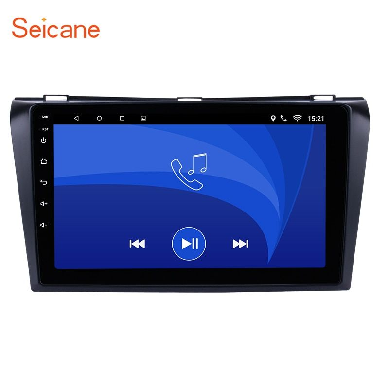 Seicane 9 inch Android 6.0 GPS Navigation Car Radio Player for 2004-2009 Mazda 3 with Bluetooth WIFI Mirror Link OBD2