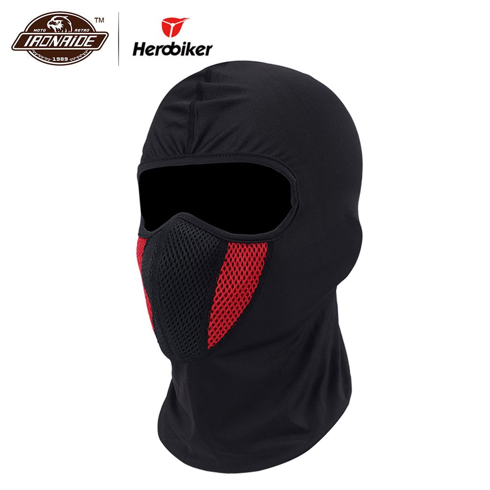 HEROBIKER Winter Balaclava Moto Face Mask Motorcycle Face Shield Airsoft Paintball Cycling Bike Ski Army Helmet Full Face Mask