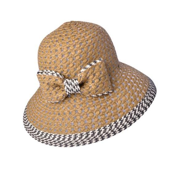 Fashion summer straw sun hat bow-tie handmade hat for women