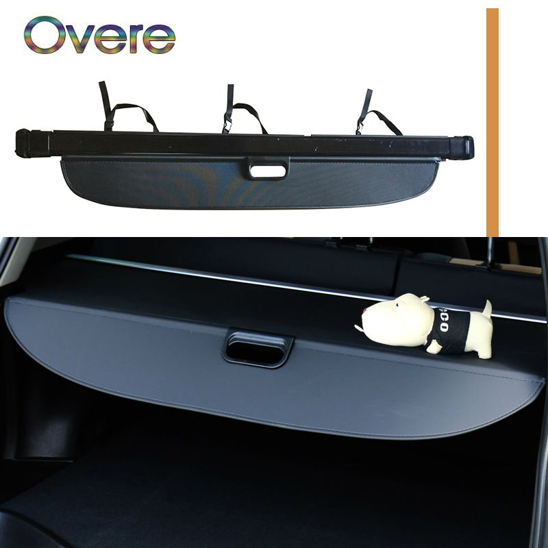 Overe 1Set Car Rear Trunk Cargo Cover For Audi Q7 2016 2017 2018 Car-styling Black Security Shield Shade Auto accessories