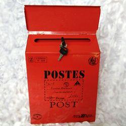 Baru Eropa Mewah Mewah Besi-Mail Mail Box Ember Tin Surat Kabar Huruf Logam Tahan Air Kotak Surat Dapat Dikunci. D180