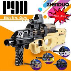 P90 Mainan Listrik Pistol Paintball Live CS Serangan Snipe Senjata Air Peluru Pistol dengan Bulletstoys untuk Anak Laki-laki Senjata Mainan pistol